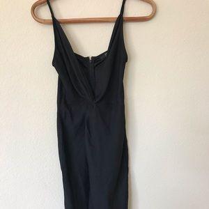 Black F21 midi dress